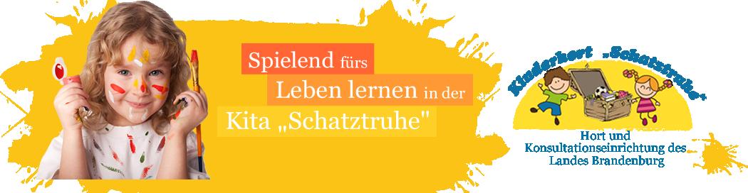 Hort Schatztruhe Header mit Logo